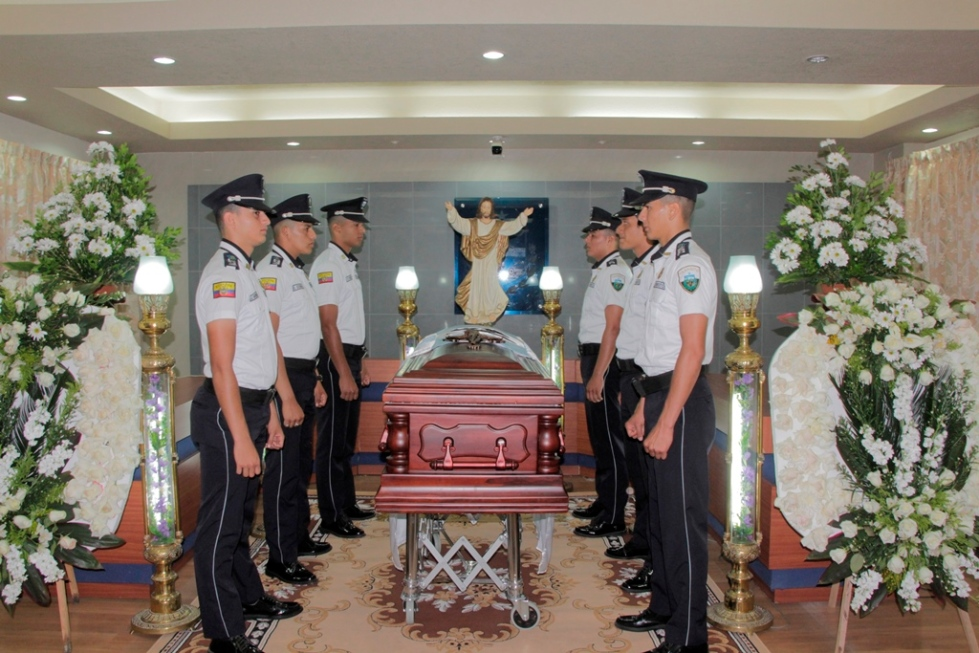 Honras fúnebres para el exalcalde de Manta, Onofre DeGenna Arteaga. Manabí, Ecuador.