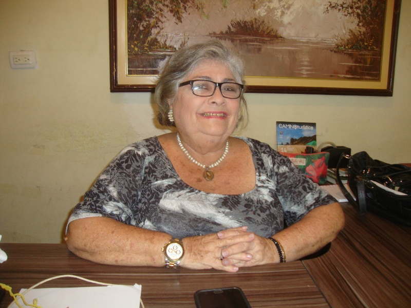 Foto: María Eugenia Pablo, directora del departamento municipal de Turismo, Montecristi. Manabí, Ecuador.