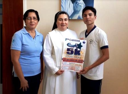 Principales responsables de la 1ra Carrera 5K Stella Maris 2018 de Manta. Manabí, Ecuador.