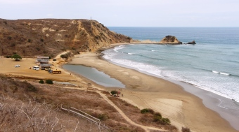 Playa La Tiñosa, zona rural de Manta.