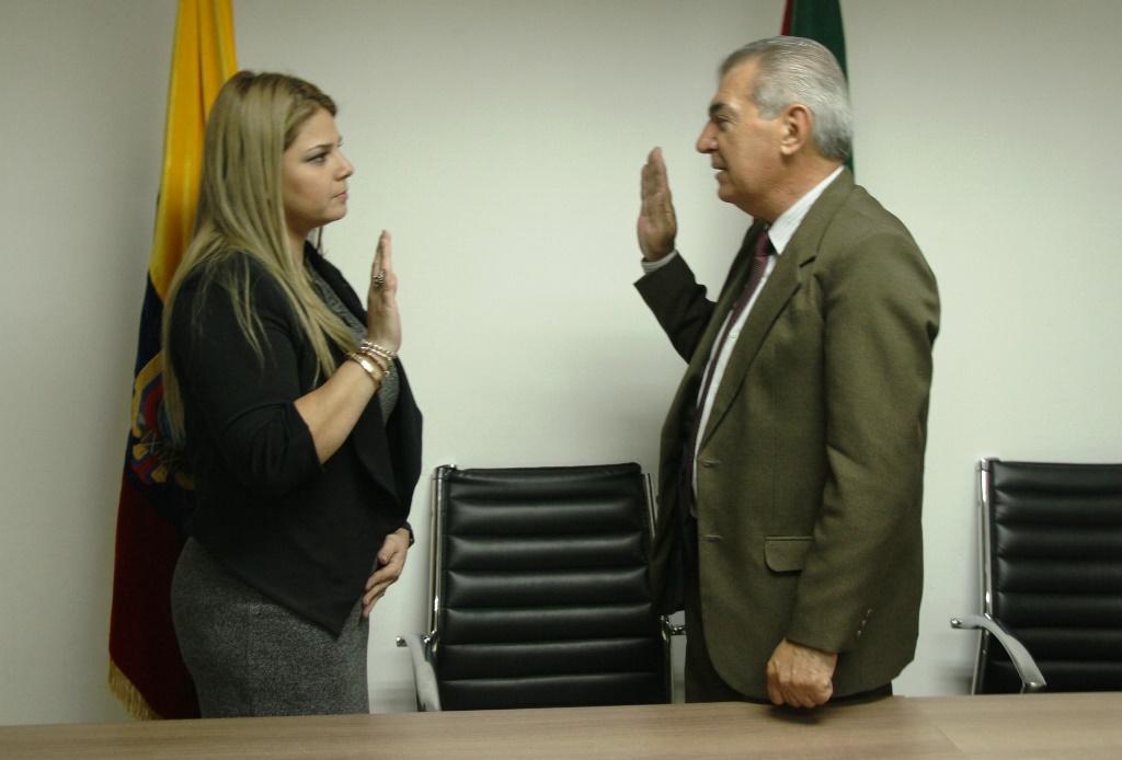 Paulina Sabando Espinales asume la presidencia de la Corte Provincial de Justicia de Manabí, en Portoviejo.