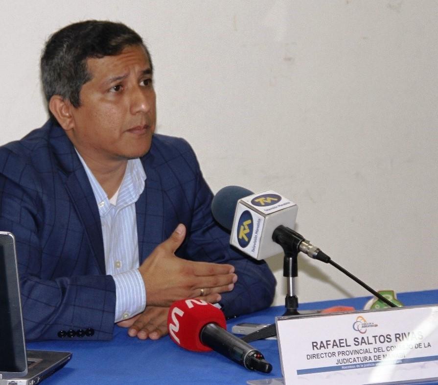 Rafael Saltos Rivas, director provincial del Consejo de la Judicatura de Manabí. Ecuador.