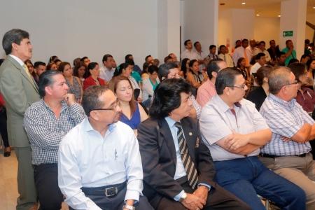 Ejecutivos con formación universitaria, durante una reunión en Manta para conformar el Comité de Profesionales del Movimiento Político Sí Podemos. Manabí, Ecuador.