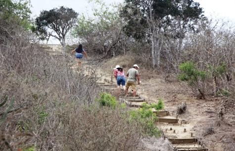 Este sendero lleva al Faro de San Lorenzo, Manta.