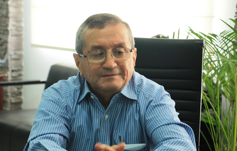 Walter Huerta, gerente de la Cooperativa de Transporte de Pasajeros Rutas Portovejenses. Manabí, Ecuador.