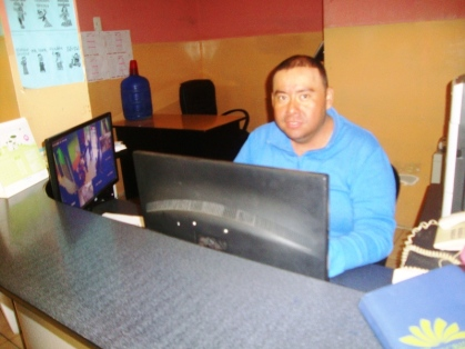 La oficina donde se agendan los turnos del Centro Diario del Buen Vivir, en Montecristi.