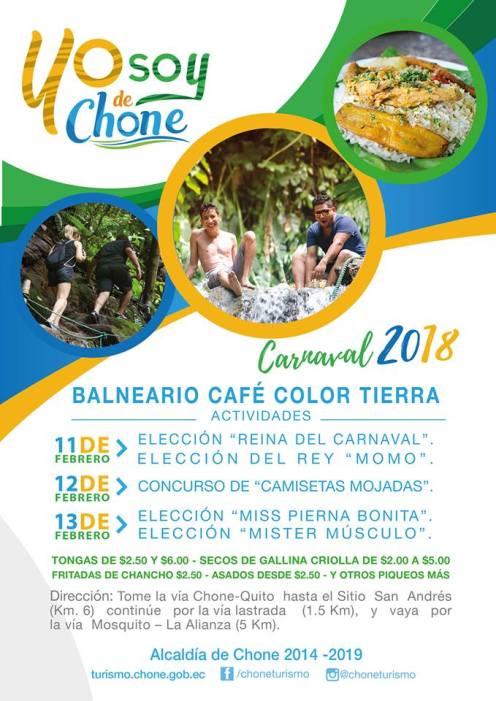 Arte publicitario carnaval 2018, CAFE COLOR TIERRA