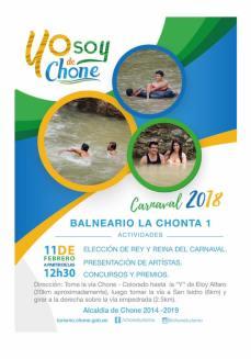 Arte publicitario carnaval 2018 Chone, CHONTA 1