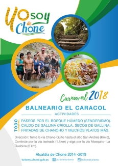 Arte publicitario carnaval 2018 Chone, EL CARACOL