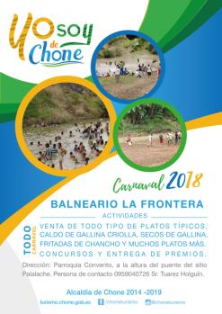 Arte publicitario carnaval 2018 Chone, LA FRONTERA