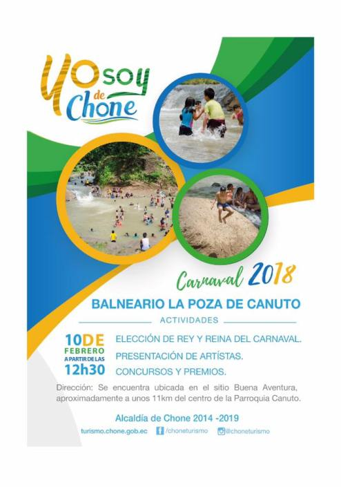 Arte publicitario carnaval 2018 Chone, LA POZA DE CANUTO