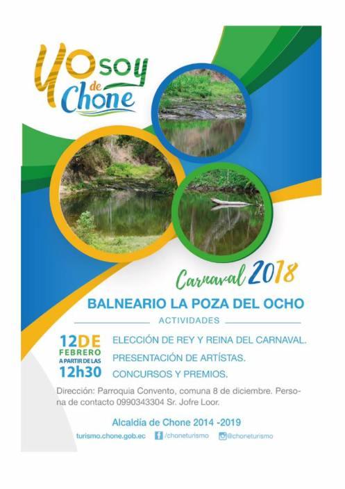 Arte publicitario carnaval 2018 Chone, LA POZA DEL 8