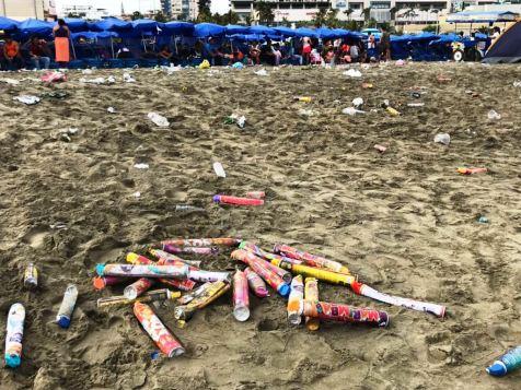 Este aspecto mostraba la Playa El Murciélago tras el concierto de Silvestre Dangond.