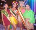 Estas reinas cantonales concurrieron puntuales a la convocatoria de la fiesta.
