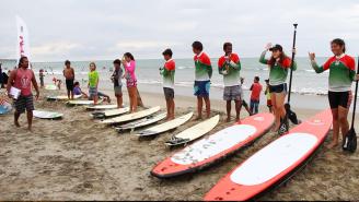 Competidores por la provincia de Manabí.