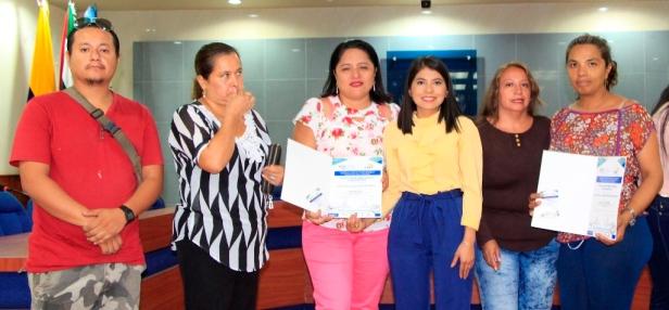 Miembros de un Consejo Barrial de Manta. Manabí, Ecuador.