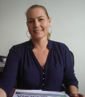 "Pearl Boyes Fuller, gerente general de la Empresa Municipal de Aseo Integral ""Montecristi-EP""."