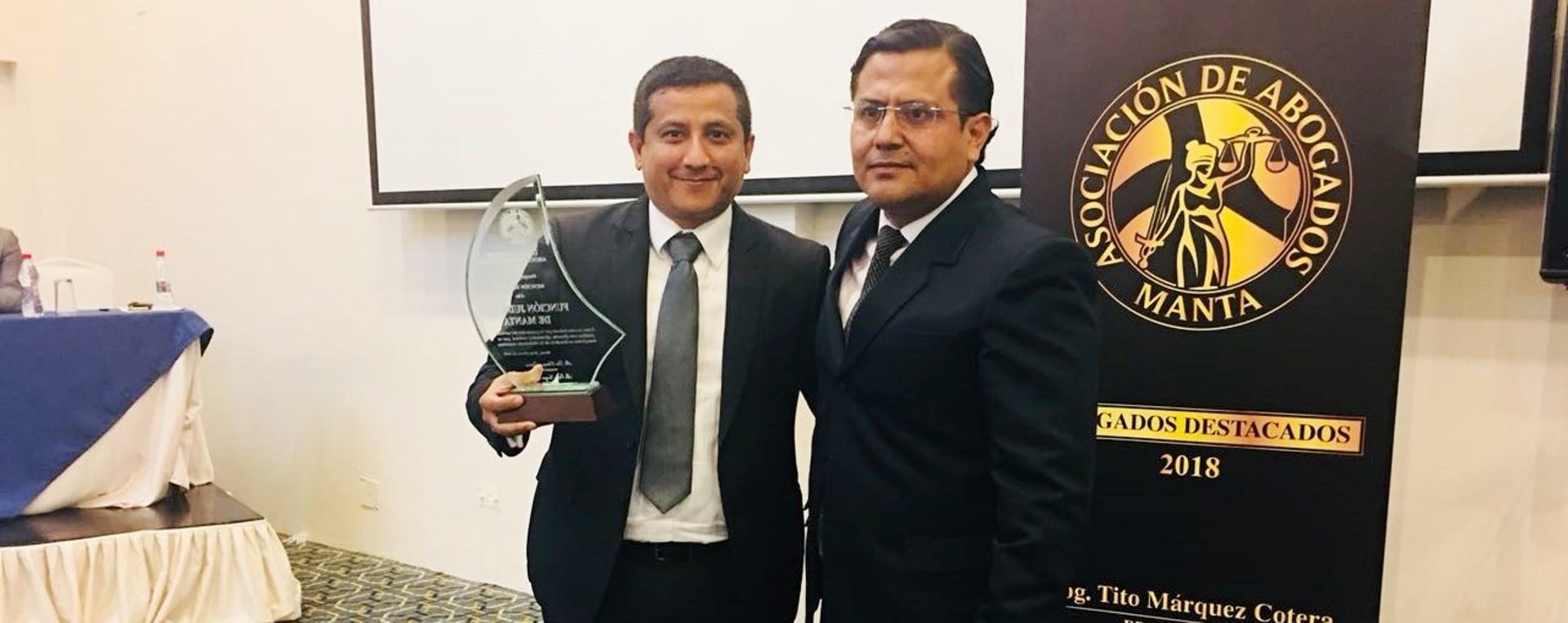 Abogados de Manta premian trabajo de Judicatura de Manabí