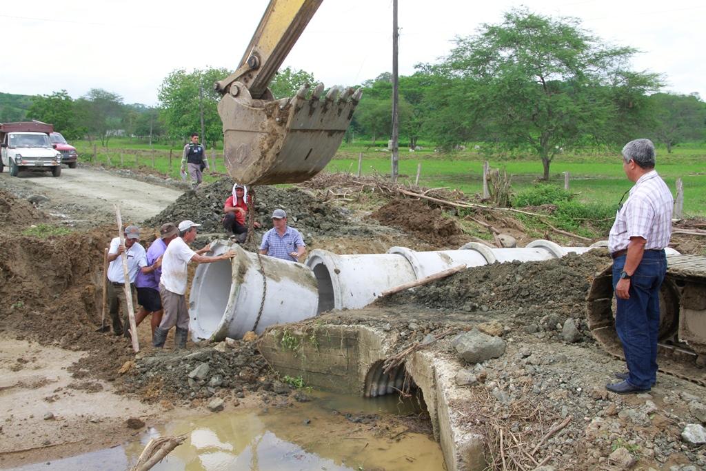 Hechos registrados en el Cantón Bolívar a causa de las lluvias