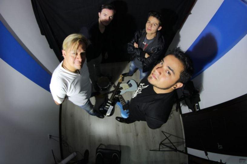 Músicos de la banda de rock and pop Don Juan. Quito, Ecuador.