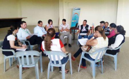 Reunión de directores técnicos ejecutivos de consejos cantonales de Protección de Derechos, en Chone. Manabí, Ecuador.
