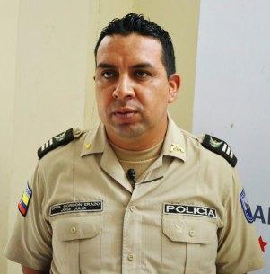 José Gordón, de la Policía Nacional, comando de Chone.