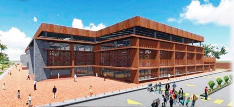 Maqueta del nuevo Mercado Central Municipal de la ciudad de Chone. Manabí, Ecuador.