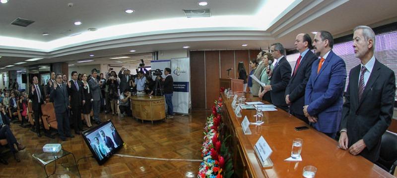 Acto de posesión oficial de nuevos conjueces de la Corte Nacional de Justicia. Quito, Ecuador.