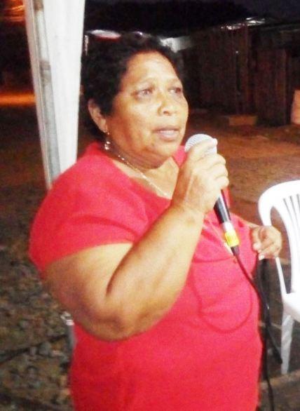 Policarpa Esmeraldas, presidenta del Comité pro Mejoras del Barrio Emilio Hidalgo de Chone.