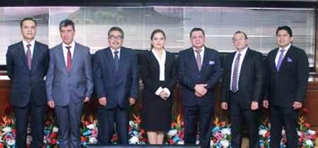 Siete nuevos conjueces de la Corte Nacional de Justicia. Quito, Ecuador.