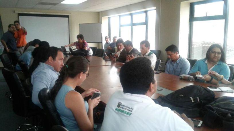 Participantes en un taller de capacitación sobre el Plan Nacional del Bambú, en Chone. Manabí, Ecuador.