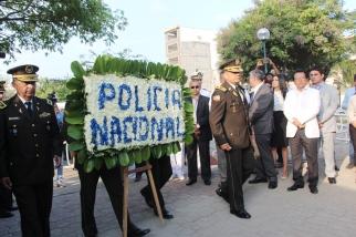 Ofrenda de la Policía Nacional.