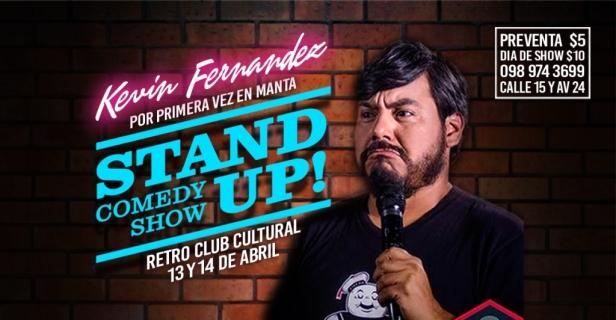 Anuncio show Kevin Fernández, Manta