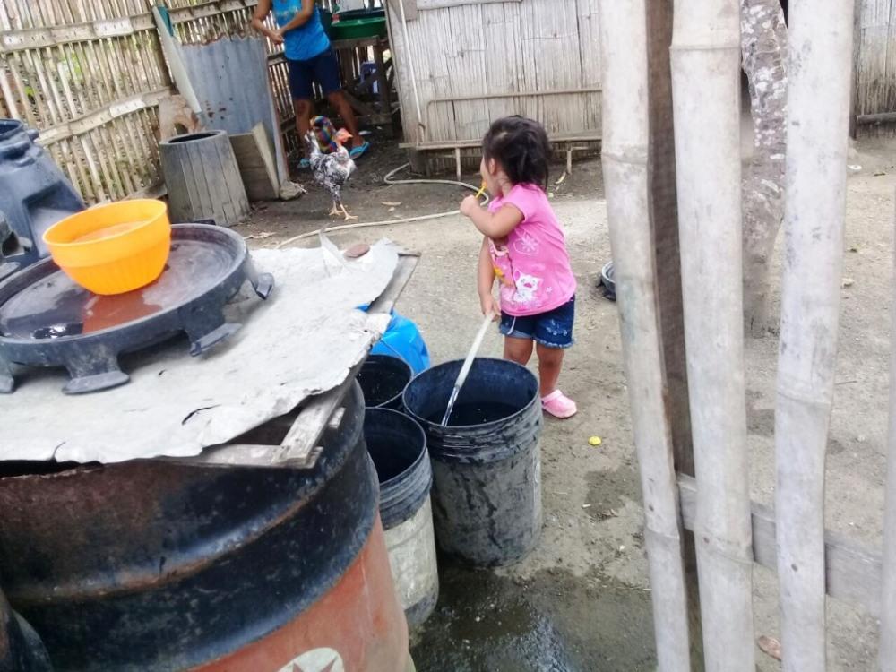 Aprovisionamiento de agua potable en un hogar periurbano de Montecristi. Manabí, Ecuador.