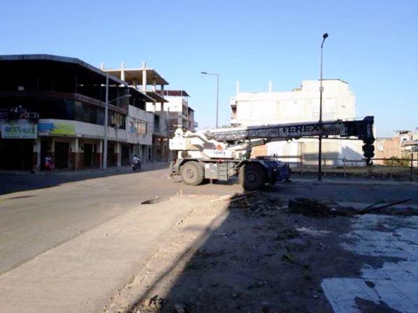 Donde antes los vehículos pululaban sin cesar, hoy no se ve uno solo.
