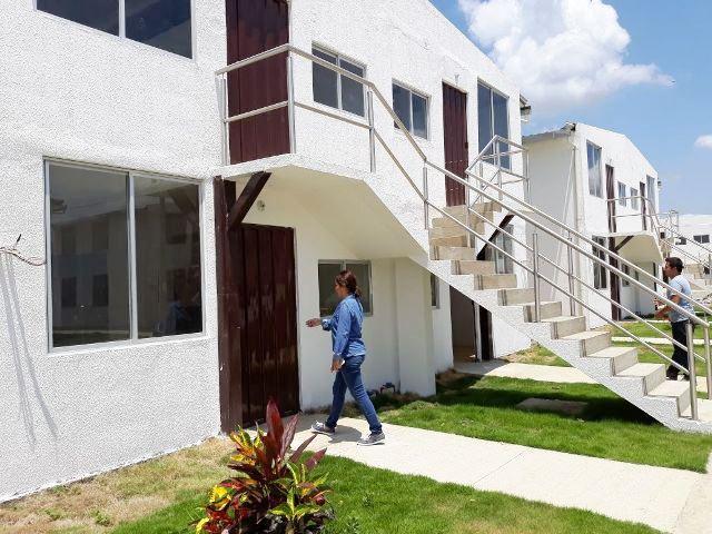 Plan Habitacional San Cayetano, obra del Miduvi en la ciudad de Chone. Manabí, Ecuador.