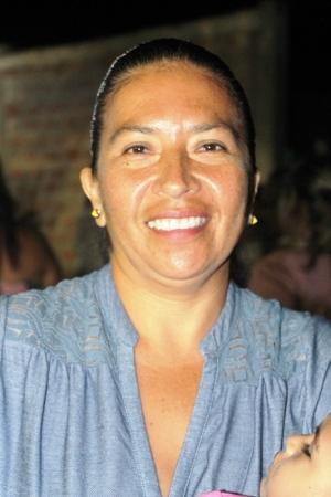 Diana Rubio, presidenta del comité pro mejoras del Barrio Santa Marianita de San Juan de Manta. Manabí, Ecuador.