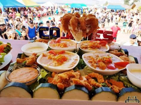 Festival del Coco, muestra culinaria con el público al fondo