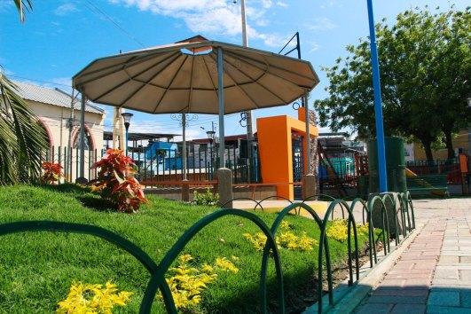 Después de la reconstrucción tras el terremoto, el parque luce así.