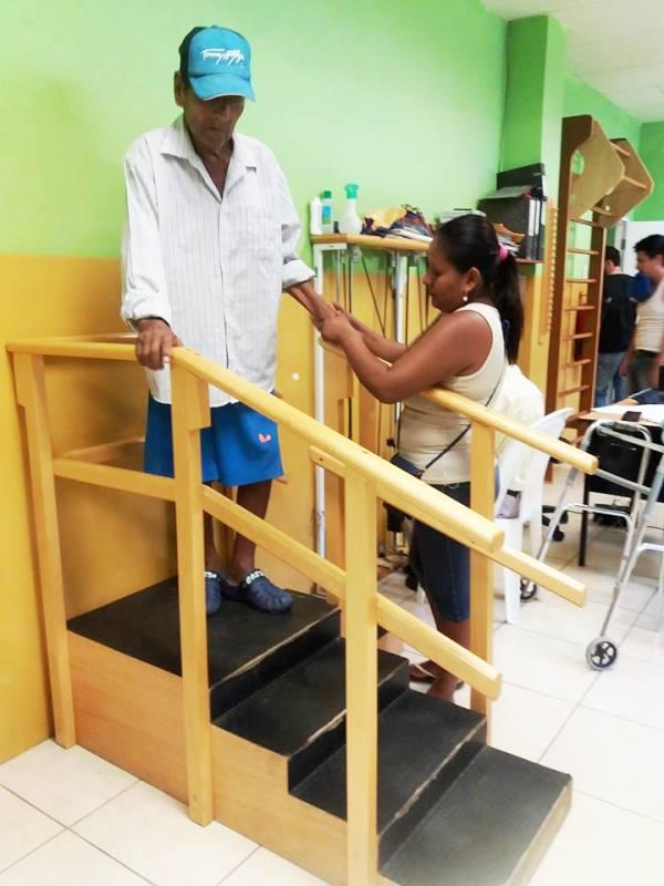 Rehabilitación física en escaleras