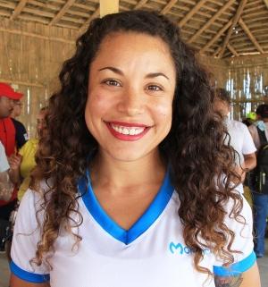 Simoné Delgado, directora de la dependencia municipal que fomenta el deporte en Manta. Manabí, Ecuador.