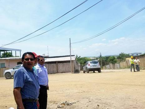 Vialidad básica Montecristi, Alcalde inspecciona