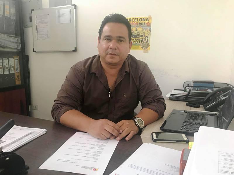 Director del departamento municipal de Medio Ambiente de Montecristi, Alfonso Vera. Manabí, Ecuador.