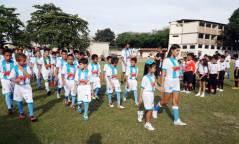 Cada equipo estuvo encabezado por una madrina, candidata a Señorita Deporte del campeonato.