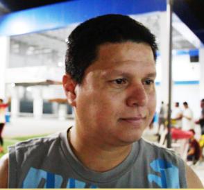 Iván Cedeño, jugador visitante.