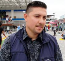 Jean Carlos, administrador del Mercado Los Esteros de Manta.