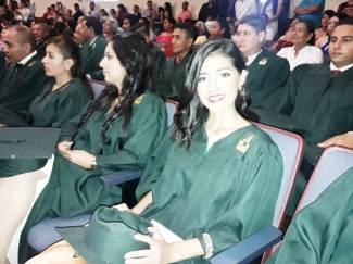 Algunas de las mujeres graduadas.