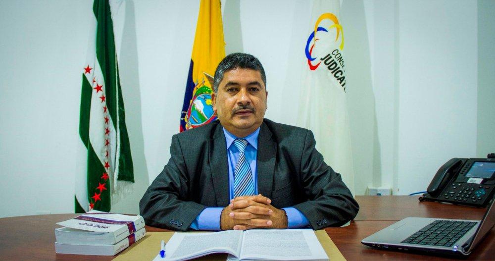 Holger Antonio Rodríguez Andrade, director disciplinario interino de la Judicatura de Manabí. Ecuador.