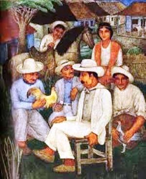 Migración, pintura del artista cubano Eduardo Abela.