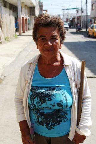 Moradora Gladys Peñarrieta, Barrio Buenos Aires, Manta.